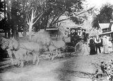 Maurice Crimmins – Coach Driver – with Passengers at Athenree Post Office – Stewart's Homestead.