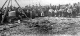 Laying Foundation Stone of Bradford Memorial on Primrose Hill, Paeroa, 1903
