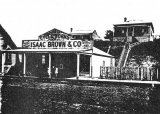 The Waihi Shop and House as first built.