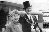 Waihi's last Mayor & Mayoress, Mr & Mrs Morgan