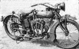 Arthur Curtis' Indian motorcycle.