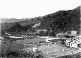 Croquet, bowls and tennis beside Karangahake School of Mines, 1907.