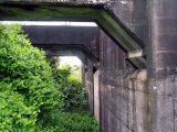 Rail overbridge, arch and wall detail. 2005.