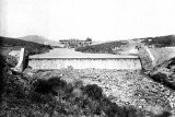 The completed Masonry Dam. Circa 1897.