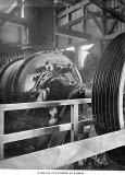 One of two 200HP turbines at the Victoria Battery. AWN 1898.