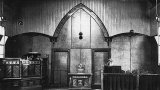 The altar of the 1909 church