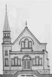 Architect's proposed plan for the new church